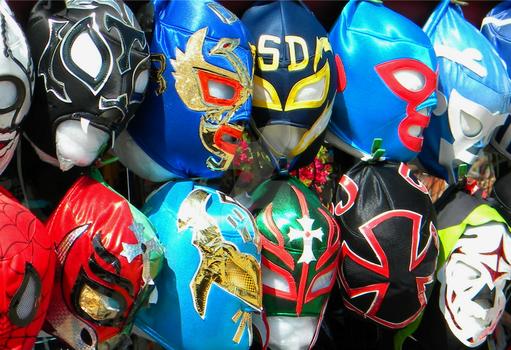 Lucha Libre Masks by Mallory-Brooke