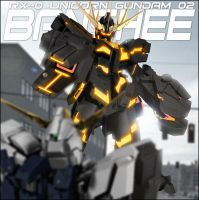 RX-0 UNICORN GUNDAM 02 BANSHEE (DESTROY MODE) by romerskixx