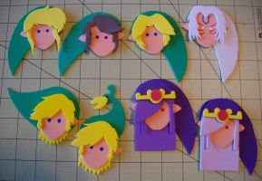 Foam Faces: LoZ Guys by Meika02