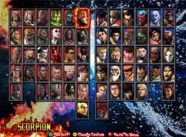 MKvsSF - Chose Your Character by 2321351scorpion