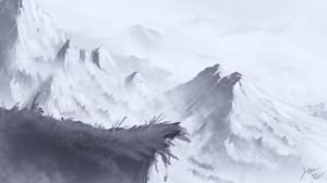 Snow Mountains Speedpaint by JRTribe