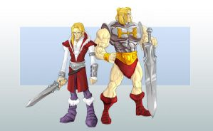 Adam and He-man by GavinMichelli