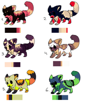 2013 Wolf Adoptees [CLOSED] by Seiishin