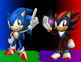 Classic Sonic and Shadow by Hyperchaotix