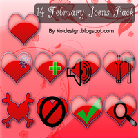 14 february heart icons by koidesign