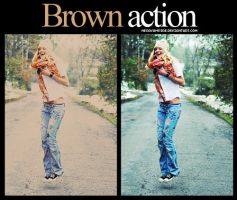 Brown action by Hesavampire