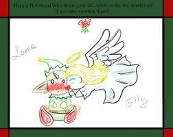 Christmas meme- Lonie and Elly by Zhdara