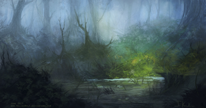 Swampy-swampy swamp by HeliacWolf