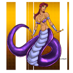[c] Starfire as a Naga by roemesquita