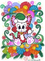 Christmas Lucky Cat by Myrret