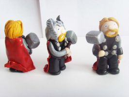 The Mighty Thor(s) Side Views by tyney123
