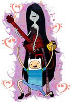 Bday Gift::Finn and Marceline by CrimsonPumpkin