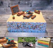 1. Day of School Cake by ginkgografix