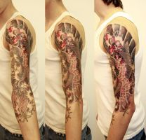 koi fish on arm 2 by graynd