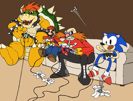 Mario n Sonic play Mario Party by FriendlyWarlord