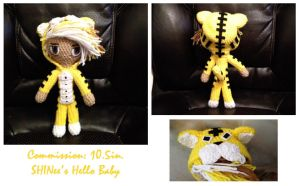 Commission: SHINee's Hello Baby Tiger Jonghyun by Lizzie82