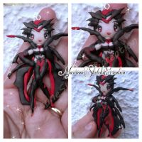 Elise Commission polymer clay Pendant by DarkettinaMarienne