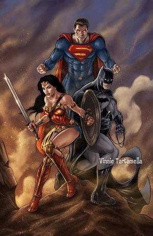 Batman Superman Wonder Woman by VinRoc
