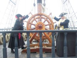 At the helm of HMS Surprise by Lokibelle