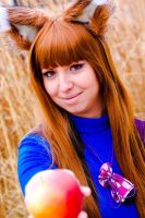 Would you like some apple?:) Horo Spice and wolf by Yoruichi22