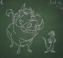 Timon and Pumba by Azdaracylius