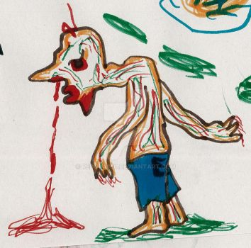 Nose bleed zombie by redguard1