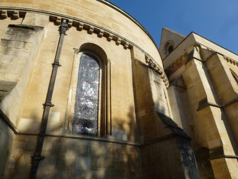 Temple church from odd angle by photodash