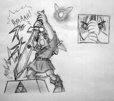 Pulling the Master Sword from the Pedestal of Time by tomchristie22