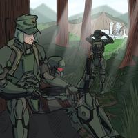 Terran Jungle Scouts by goeliath