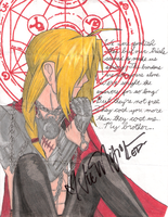 FMA-Edward Elric :autographed: by CrystalKnuckles16