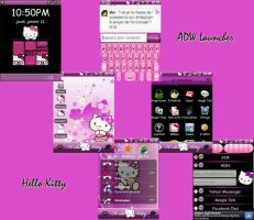 Hello Kitty theme Android by LadyPinkilicious