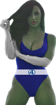 She Hulk Fantastic 4 Photomanipulation and Render by rattoilet