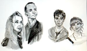 Doctor Who Quick Portraits by Waldbraut