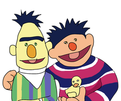 Favorite Characters and Pairings: Ernie as Bert by Chibifangirl01