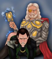 Commission: Odin/Loki by Petia-DiS