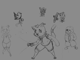 twitch icon sketches by Popinsez