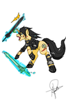 Kirito From Sword Art Online - MLP crossover by Kuro-Dachi