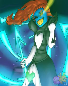 I'm the hero (Undyne the Undying)  by Therabirox80