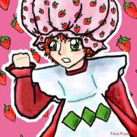 Ron as Strawberry Shortcake by sidherequiem