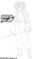 SSJ4 Trunks Lineart by JamalC157
