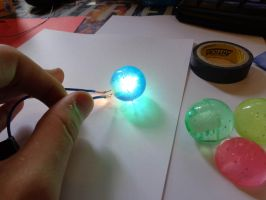 Mass Relay glowy ball - Making of by Beezqp2