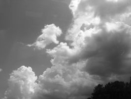 Black and White Clouds 3 by LovelyBPhotography