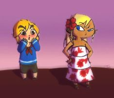 Link and Tetra: First Date by BeagleTsuin