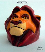 Lion King - Mufasa Sculpture by Holly-Toadstool