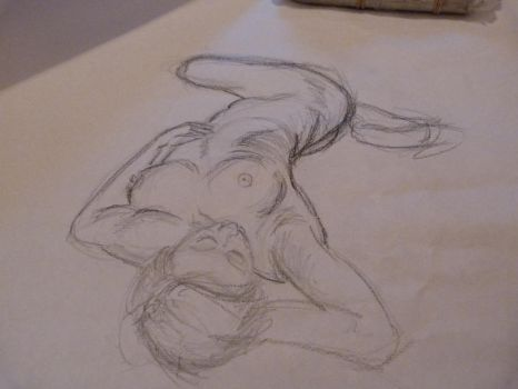 body practice with pencil by NikolaiSirone