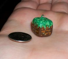 Minecraft Grass Block Charm by KingMelissa