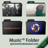 Music Folder 10 ICO by sp3ctrm5tr