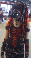 Cyber Goth Red by Kimidori-apple
