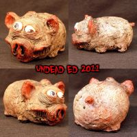 Freaky Piggy Bank MORTIMER by Undead-Art