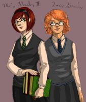 Lucy and Molly Weasley II by Nouveau-Charles